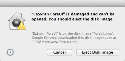 ForeUI is blocked by Gatekeeper