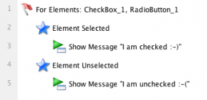 Selected/Unselected Event for CheckBox/Radio Button