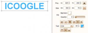 Icon search engine logo