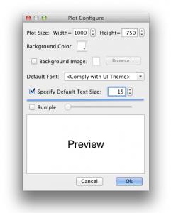 Set default text size
