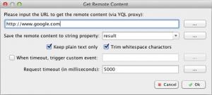 Get Remote Content via YQL Proxy