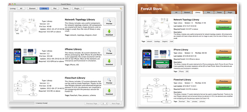 ForeUI Store